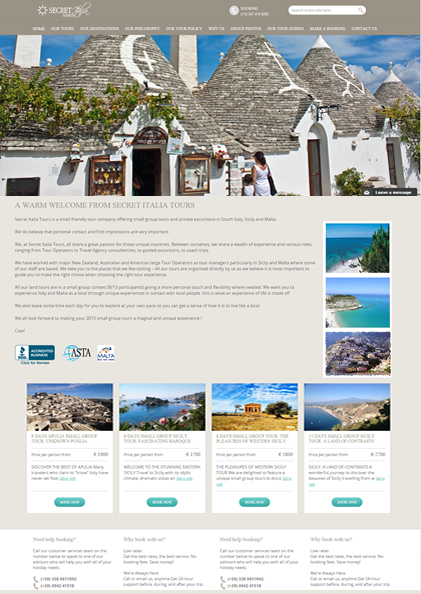 sito web turismo